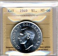 Pièce de monnaie 1949 Silver dollar ICCS Certified GEM  MS-66.