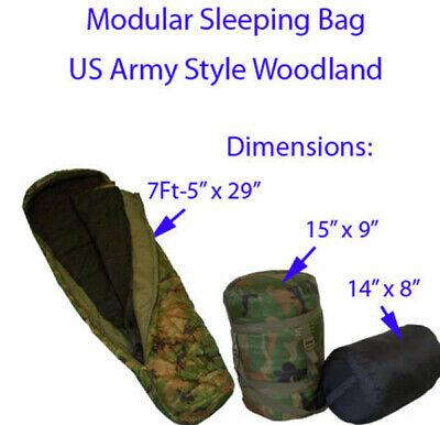 US Military ACU 5 Piece IMPROVED MODULAR SLEEPING BAG SLEEP SYSTEM IMSS VGC//EXC