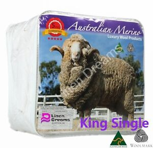 Single/King Single/Double/Queen/King AUS MADE100% Merino Wool Quilt Doona 500GSM