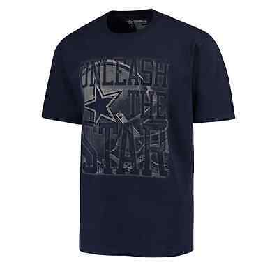 NFL Dallas Cowboys DCM Mens Unleashed Star Short Sleeve T-Shirt - Navy Navy Unleashed T-shirt