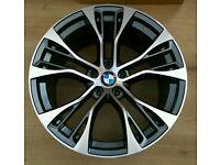 """* NEW * 4 X BMW 22"""" PERFORMANCE ALLOY WHEELS 5X120 X3 X4 X5 MSPORT 6 7 SERIES VW T5"""