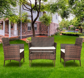 4 piece rattan furniture brand new in brown and black colour available