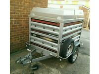 Daxara 158 Trailer 5x4 + extended sides and ABS lockable lid