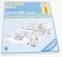 Mazda RX-7 Haynes Repair Manual 1979 - 1985
