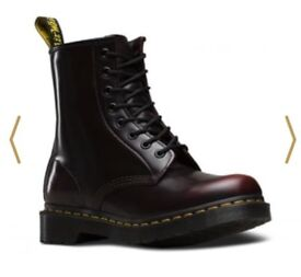 Dr martens, 1460 cherry red Arcadia, brought as a gift but doesn't fit, excellent condition, no box.