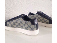 Gucci-Blue Supreme-Lace-Up-Sneakers Brand New