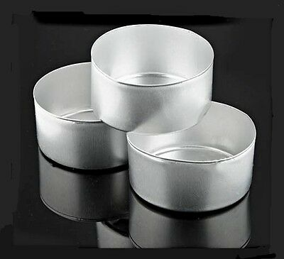 25 Aluminum Tea Light Candle Cups Molds With Wicks Free Shipping