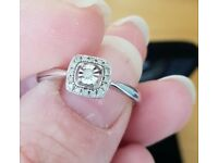 Silver and diamond ring size s/t