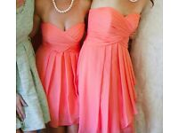 Bridesmaid Dress like new Coral Strapless US size 16 (uk18-20)