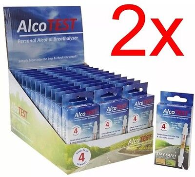 AlcoTest Personal Breathalyser Police Alcohol Tester Detector Drunk Drink Car X2