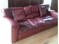 Duresta Jaguar 2 x 3 seater and 1 x chair leathersettee sofa