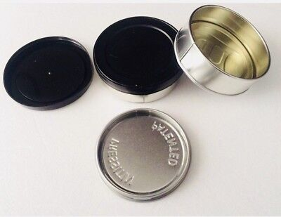 30x Press It In Tin Can 3.5 100ml Self Sealing With FREE Plastic Tops, Tuna Can