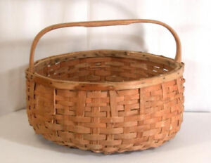 Authentic Mi'kmaq potato baskets (2) and Fiddlehead basket