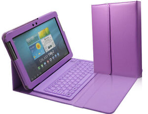 Bluetooth Keyboard Leather Cover Case For Samsung Galaxy Tab 2 10.1