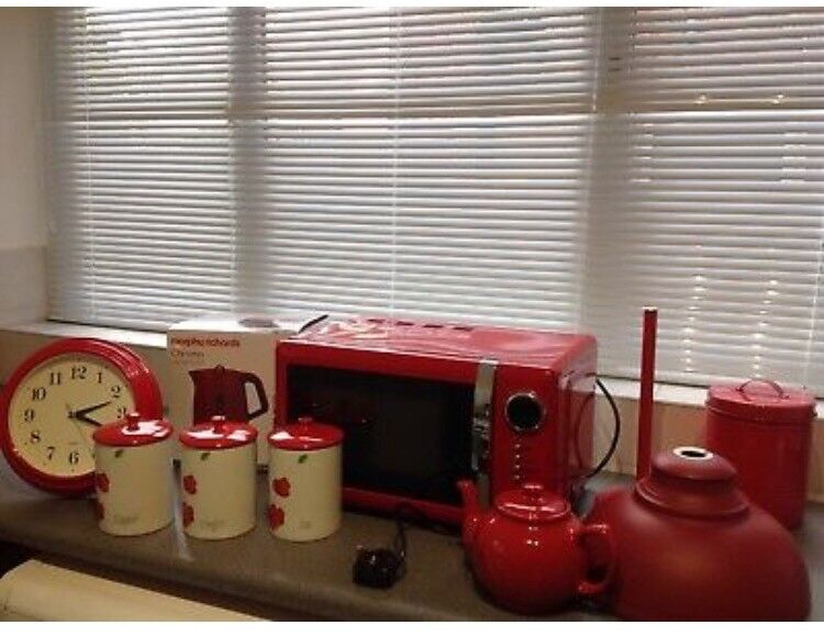 Red Microwave Kettle Plus Kitchen Accesories In Wellingborough Northamptonshire Gumtree
