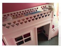 Girls single playhouse bed