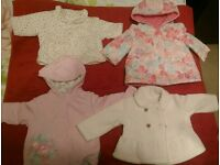 4 spring/winter jackets 0-3 months