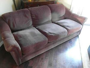 Chocolate Brown Couch - Good Condition But Not Perfect..