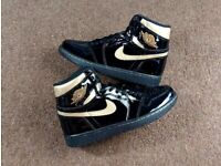 Nike Air Jordan 1 Retro High OG BLACK GOLD Size UK 7.5 👉IN HAND👈