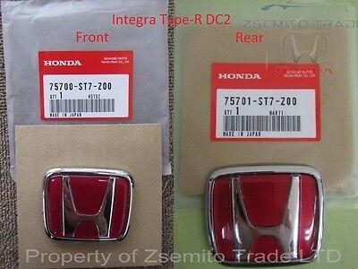 - Honda Integra DC2 Type R FRONT AND REAR EMBLEMS JDM Genuine ITR OEM Badges