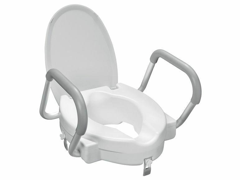 Toiletten-Sitzerhöhung mit Armlehnen Toilettenaufsatz WC Erhöhung Sitzerhöhung