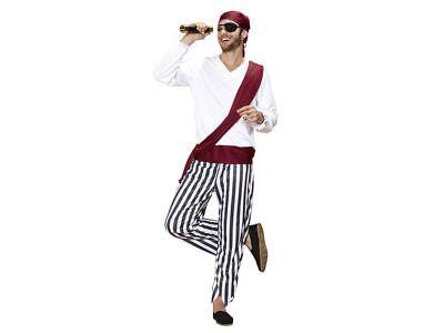 4 Teilig Piratenkostüm Herren  Pirat Freibeuter Seerüber Kostüm Karneval  Gr - Freibeuter Kostüm Herren