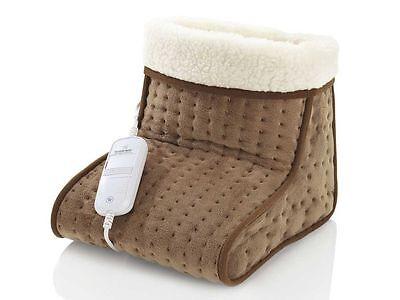 Elektrischer Fußwärmer Fuss Fußsack Fußheizung Teddyfutter 6 Temperaturstufen TM