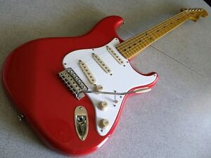 fender stratocaster 2010 classic vibe 50s fiesta red