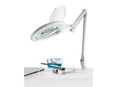 LED Lupenleuchte Kaltlicht Arbeitsleuchte Lupenlampe 120mm Glaslinse 60 LEDs NEU