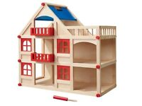 Wooden dolls house new boxed