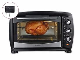 Silvercres 1,500W Electric Oven & Grill with Rotisserie