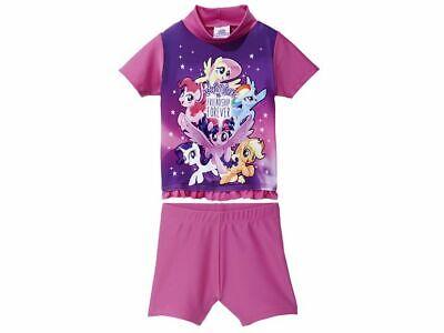 Mädchen UV set Schwimmanzug Badehose Hose Shirt 2-tlg UV 50+ Pony 74 - 80