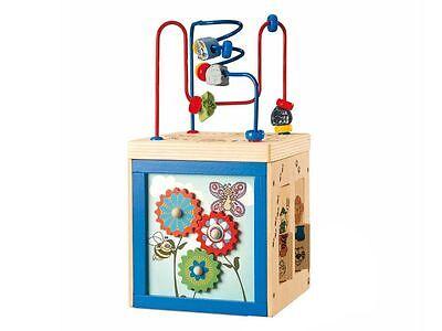 Kinder Holzspielzeug - Junior 5-in-1 Aktivwürfel / Motorik Spielzeug (NEU + INKL