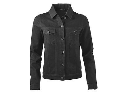 Klassische Schwarze Jeans ((R31) ESMARA Damen Jacke Jeansjacke schwarz klassisch denim Gr. 36-40 NEU)