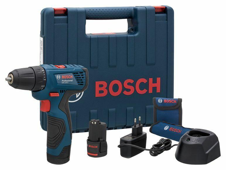 Bosch Professional GSR 120-Li 12V Akkuschrauber Set mit 2x Akku + Ladegerät NEU