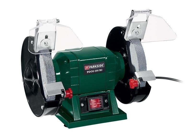 Parkside pdos 200 b2 230v double bench grinder brand new for Smerigliatrice angolare lidl