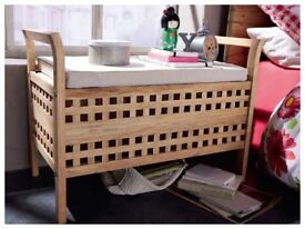 Bamboo storage bench / seat