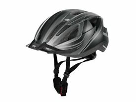 NEW HELMET CRIVIT LIGHTWEIGHT ADULT CYCLING BIKE BICYCLE HELMET; VISOR+RED REAR LIGHT; SIZE: L
