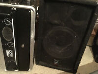 Shermann Audio PA System 2x 12' Cabinets Passive speakers with stands / power amp / rack and cables