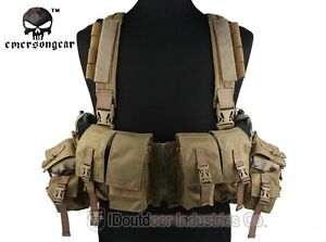LBT-1961A-R-EMERSON-Load-Bearing-Chest-Rig-Tactical-Airsoft-Vest-Khaki-EM2977A