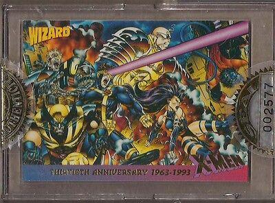 WIZARD MAGAZINE 1993 X-MEN 30TH ANNIV. GOLD FOIL STAMP PROMO CARD SEALED & #'D