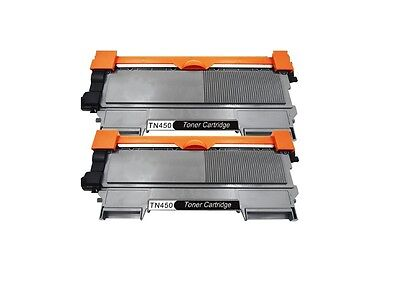 2PK Brother Compatible TN450 TN420 High Yield Black Toner Cartridge NEW