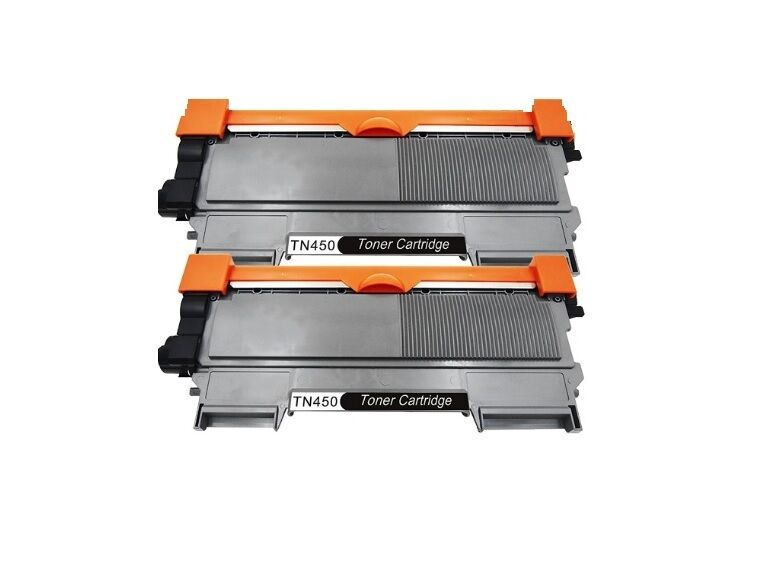 2PK Brother Compatible TN450 TN420 High Yield Black Toner