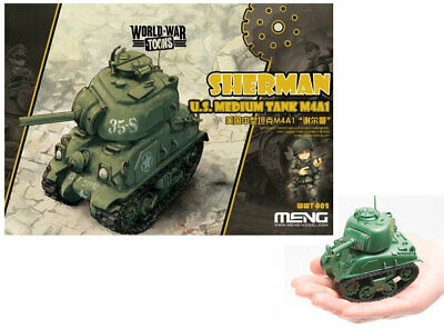 Meng Models World War Toons - US Medium Tank  Sherman M4A1 [Q Version] for sale  Shipping to Canada