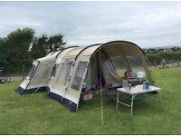Outwell Montana 6 Polycotton Tunnel Tent With Extension