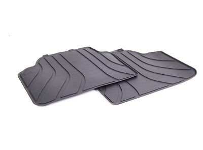 Genuine BMW All Weather Rubber Rear Floor Mats  PN 51472336599  UK