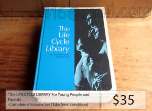 The LIFE CYCLE LIBRARY For Young People and Parents - 6 Volumes