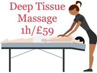 Full Body Deep Tissue Massage 1h/£59