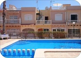 2 Bedroom house for holiday rent in south costa blanca Spain, any week in the year only £300.00