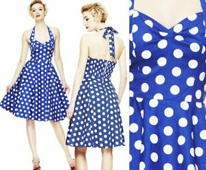 50s Lady Nautical Sailor Vintage Style Swing Full Circle Rockabilly Pinup Dress